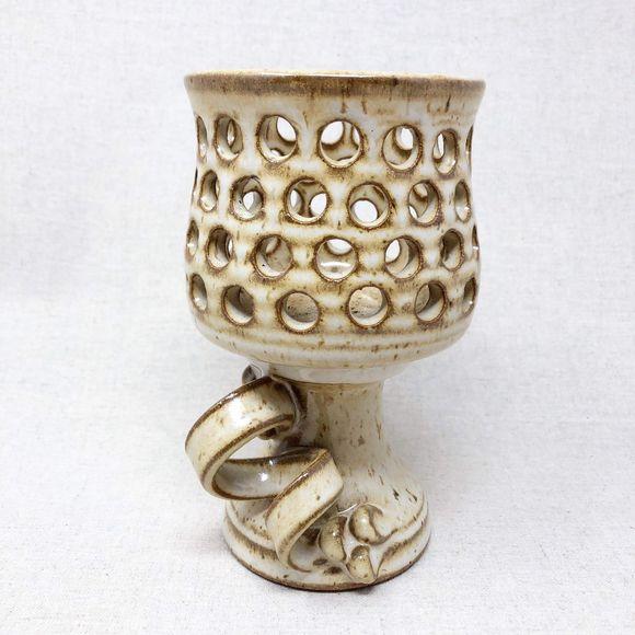 vintage Other - Vintage 70's Stoneware Candle Holder Luminary